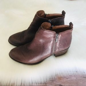 Lucky Brand Ankle Leather Bootie Shoes Sz 7